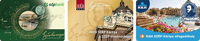 Elfogadott szépkártyák - OTP MKB K&H
